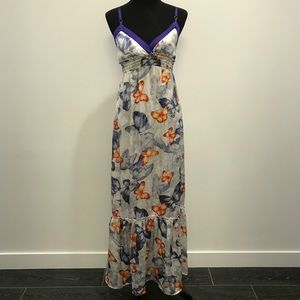 2B Bebe Butterfly Maxi Dress